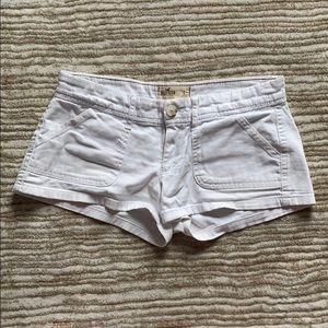 Hollister white soft cotton shorts size 1